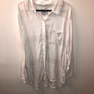 Anthropologie Rails Hunter Ivory Sherbet Plaid Top